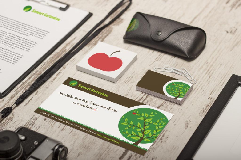 Corporate Design Geschäftsausstattung Siewert Gartebnbau